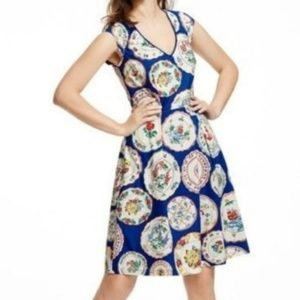 Boden Blue Printed Spring Day Dress